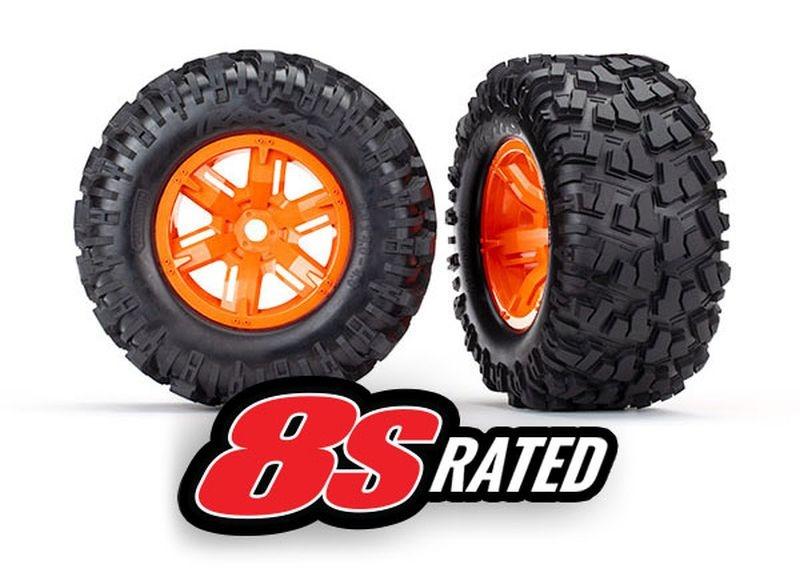 Reifen auf Felge X-Maxx orange, Maxx AT Reifen (2)