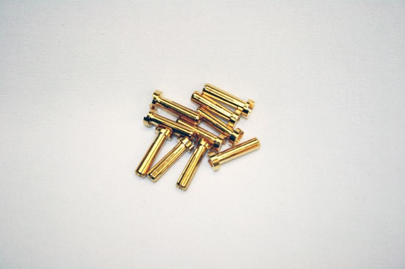 4mm Goldkontaktstecker 18mm lp (10Stk)