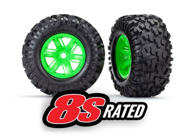 Reifen auf Felge X-Maxx grün, Maxx AT Reifen (2)