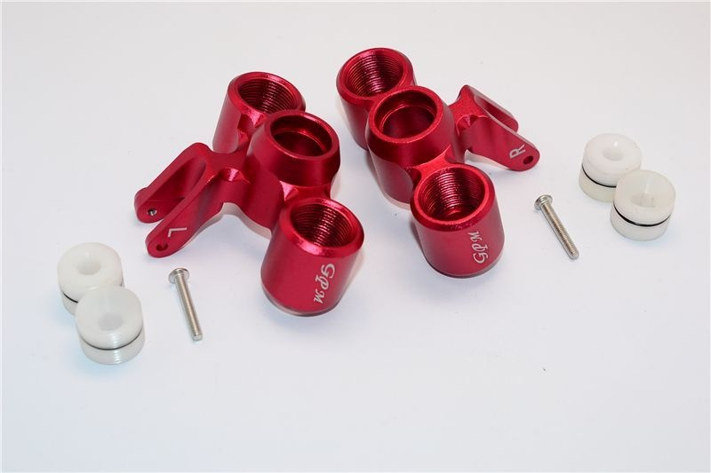 ALUMINUM FRONT KNUCKLE ARM  - 1PR SET red