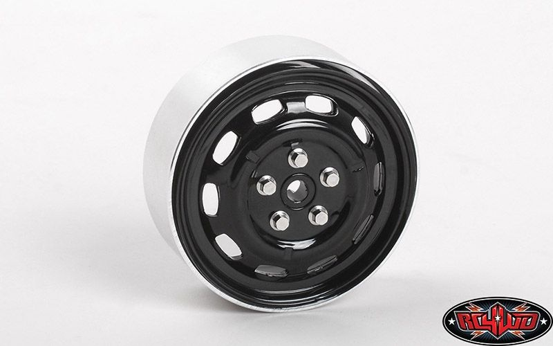 Stamped Steel 1.7 10-Oval Hole Wheels (Black)
