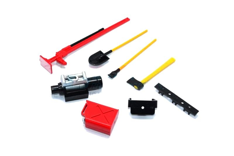 SCALE ACCESSORIES: PLASTIC TOOL SET FOR CRAWLERS -7PC SET