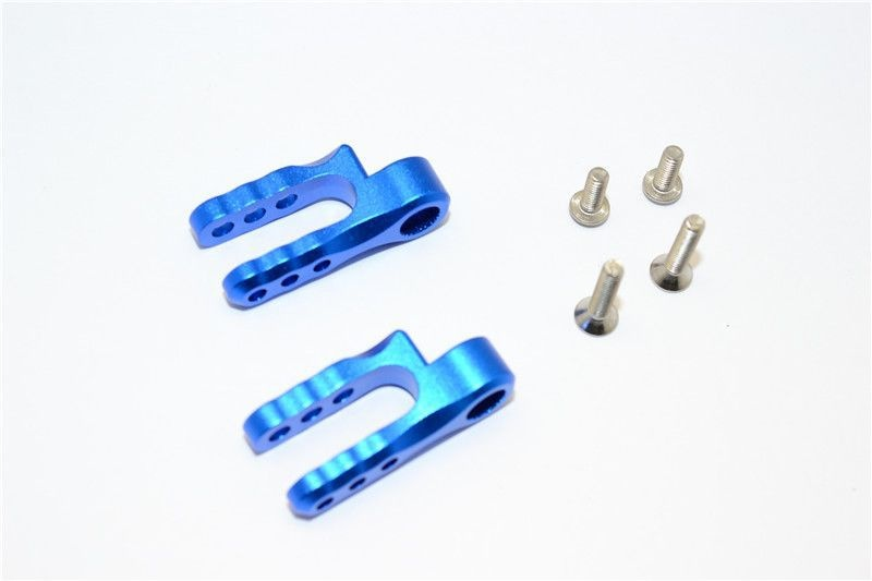 ALUMINIUM STEERING SERVO HOLDER - 1PR SET blue