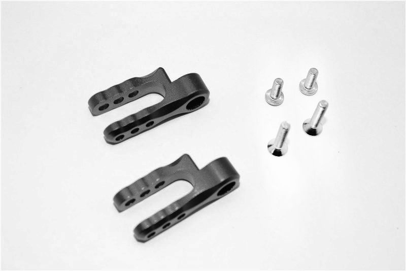 ALUMINIUM STEERING SERVO HOLDER - 1PR SET black