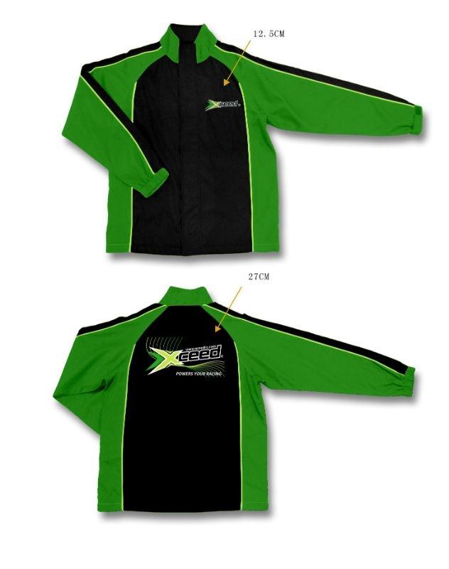Sportjacke schwarz-grün (XXL)