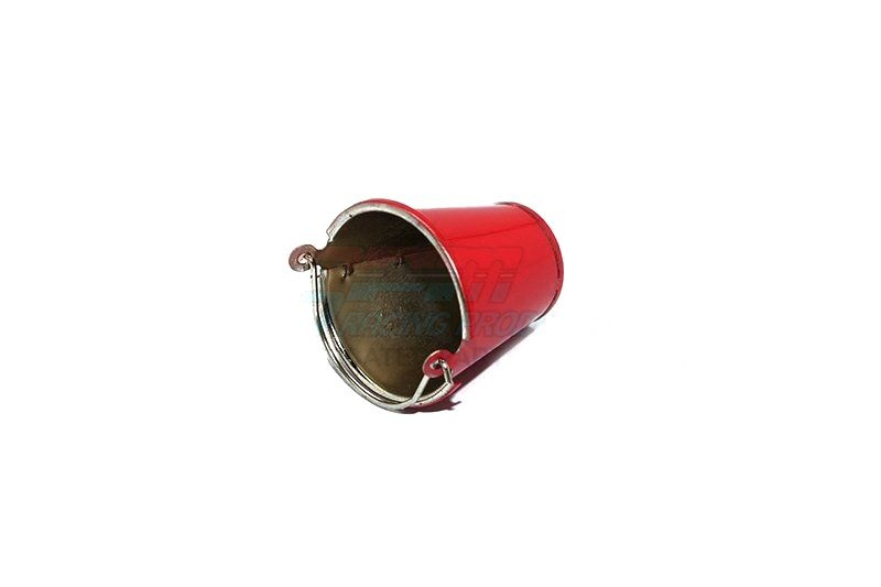 SCALE ACCESSORIES: METAL WATER BUCKET FOR CRAWLERS -1PC red