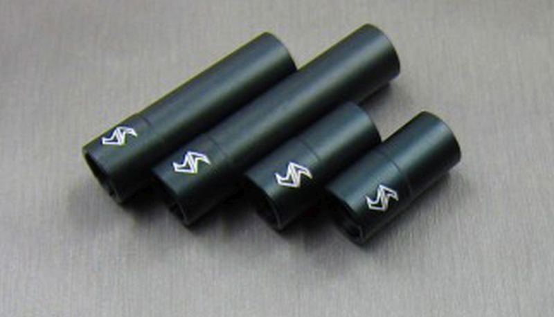 SAMIX SCX10-2 alum black outer drivershaft 1 short / 1 long