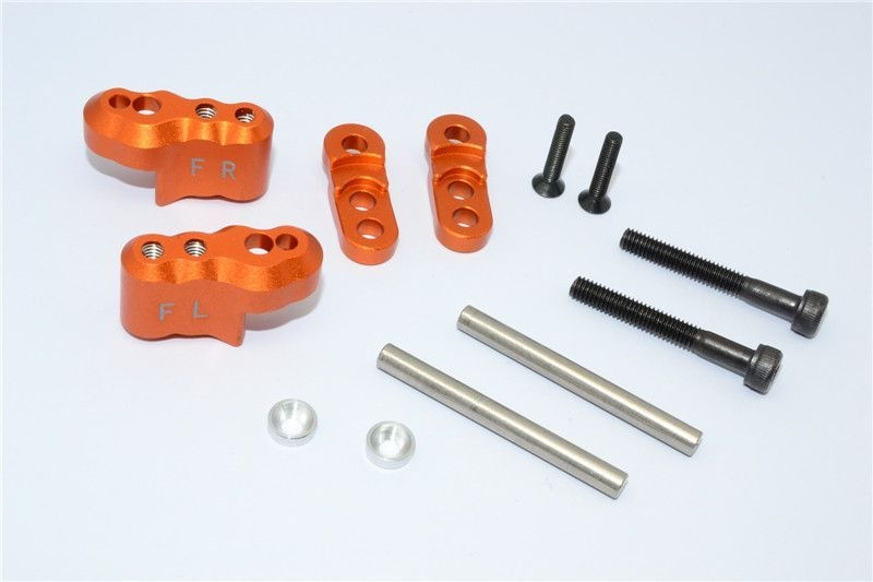 ALUMINIUM FRONT ADJUSTABLE SHOCK MOUNT - 1SET orange
