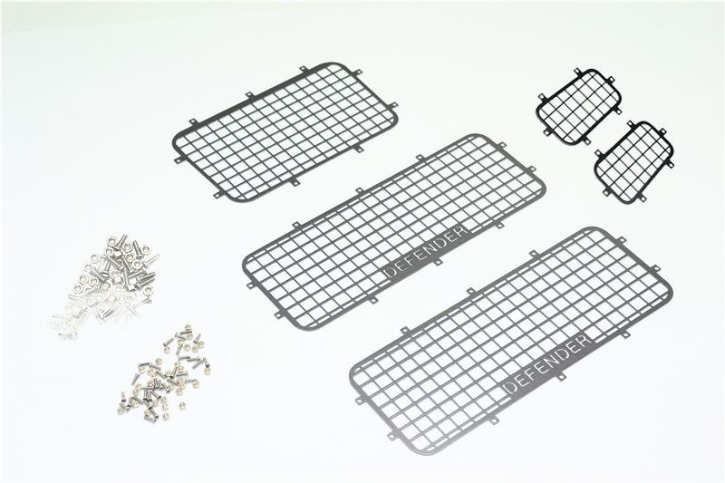 SCALE ACCESSORIES ALU WINDOW GUARD TRX 4 DEFENDER-101PCS