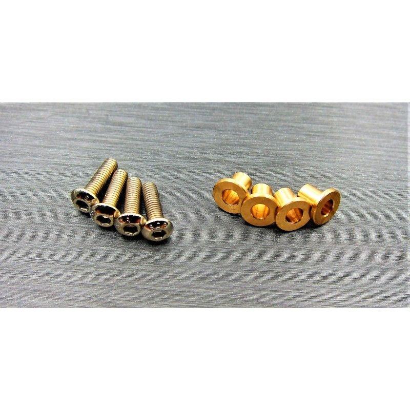 SAMIX SCX10-2 brass knuckle busings set (include 4 screw)