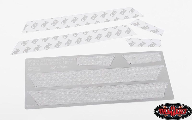 Side Diamond Plates for Axial SCX10 II 1969 Chevrolet Blazer