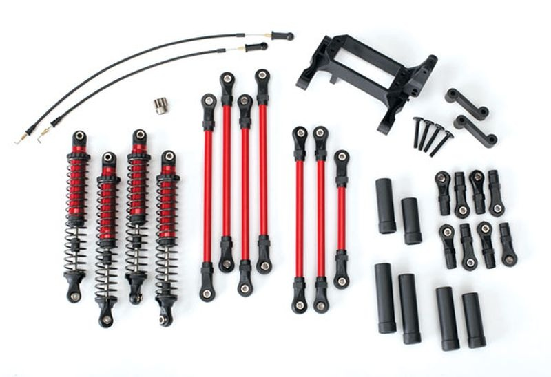TRX-4 Long Arm Lift Kit komplett rot