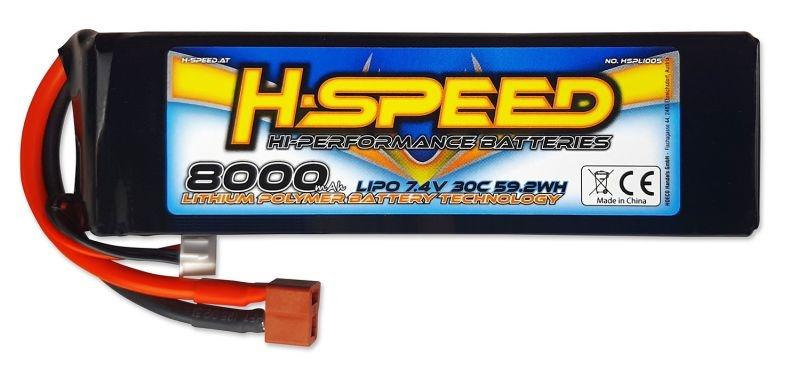 8000mAh 7.4V 30C LiPo