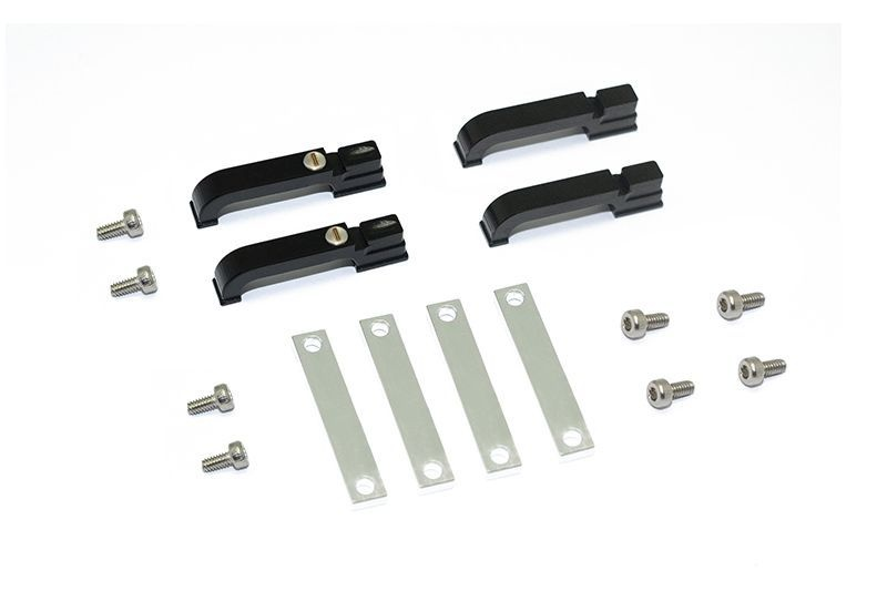 ALUMINUM DOOR HANDLE FOR TRX-4 DEFENDER -16PC SET black