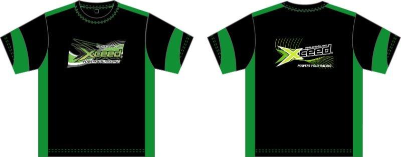 T-shirt (dry-fit) schwarz-grün Xceed (L)