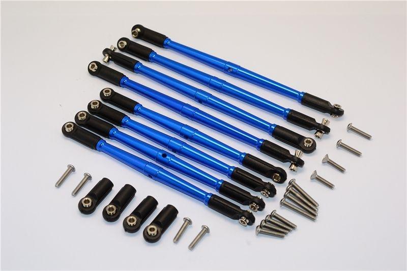 ALU Ati-ckw THREAD STEERING TROD8PCS SET 1/10TRX blue