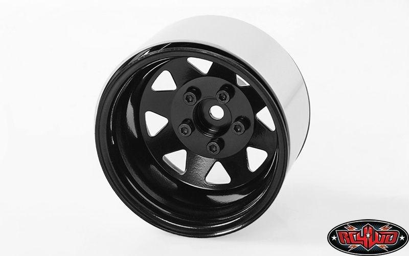 5 Lug Deep Dish Wagon 1.9 Steel Stamped BeadlockWheels Black
