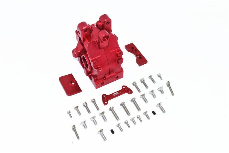 ALUMINUM REAR GEAR BOX -32PC SET red