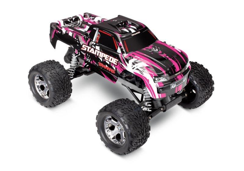 TRAXXAS Stampede pink RTR +12V-Lader+Akku