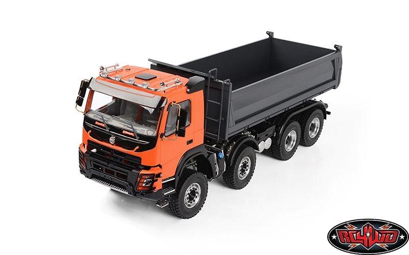 1/14 8x8 Armageddon Hydraulic Dump Truck (FMX) (Orange/Grey)