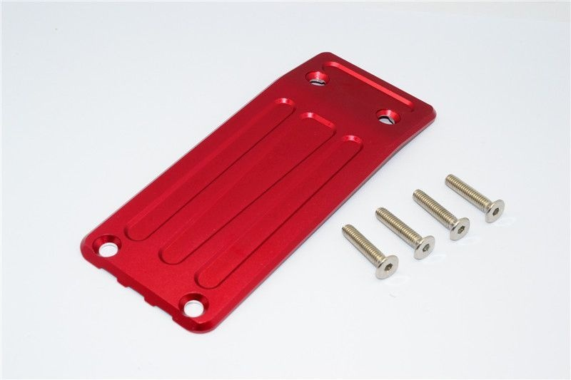 ALUMINIUM FRONT SKID PLATE - 1PC SET red