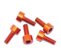 Screw alu allen cilinder head M2.2x6 Orange (7075) (5)