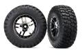Reifen auf Felge SCT Split-Spoke schwarz/chrome (2) (TSM rat