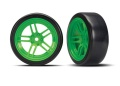 Reifen auf Felgen verklebt Split-Spoke Felge grün vorn