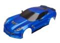 Karo Chevrolet Corvette Z06 blau mit Decals montiert
