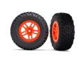 Reifen auf Felge SCT Split-Spoke orange (2) 4WD v/h, 2WD h (