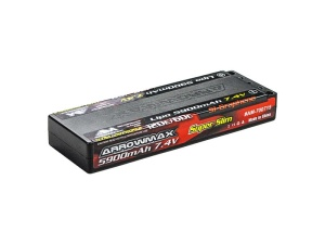 AM Lipo 5900mAh 2S TC Ultra Low Profile - 7.4V 60C Continuou