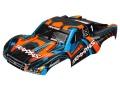 Karo Slash 4X4 orange mit blau (lackiert + Aufkleber)