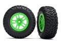 Reifen auf Felge SCT Split-Spoke grün (2) 4WD v/h, 2WD h (TS