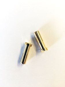 5mm Goldkontaktstecker 18mm  (2Stk)